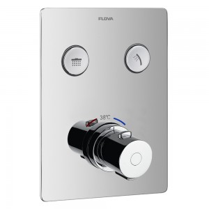 Flova ANTGO2TRIM Annecy/Cascade Concealed Thermostatic GoClick 2-Outlet Trim