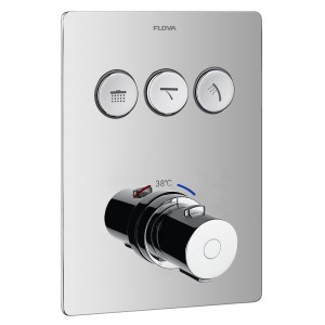 Flova ANTGO3TRIM Annecy/Cascade Concealed Thermostatic GoClick 3-Outlet Trim