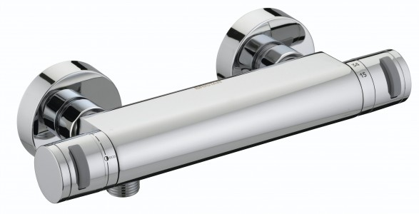 BRISTAN Artisan Thermostatic Surface Mounted Bar Shower Valve & Fast Fit Connections
