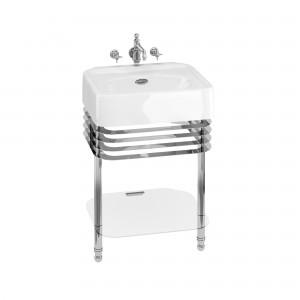 Burlington ARC22CHR Arcade Wash Stands Chrome with Glass Shelf for 600mm Basins
