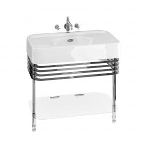 Burlington ARC23CHR Arcade Wash Stands Chrome with Glass Shelf for 900mm Basins