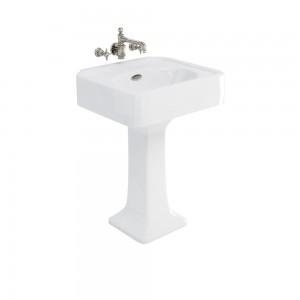 Burlington ARC600NTH Arcade Pedestal Basin 605 x 525mm No Tapholes White