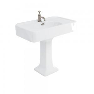 Burlington ARC9001TH Arcade Pedestal Basin 905 x 550mm 1 Taphole White