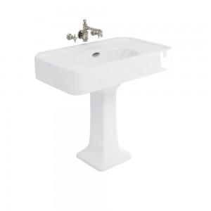 Burlington ARC900NTH Arcade Pedestal Basin 905 x 550mm No Tapholes White