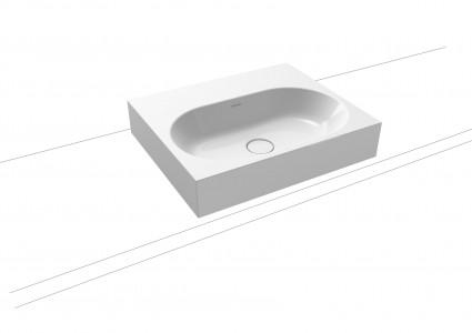 Kaldewei Avantgarde Centro Countertop Basin - Rim 120mm: 60 x 50cm. One tap hole [903006013001]