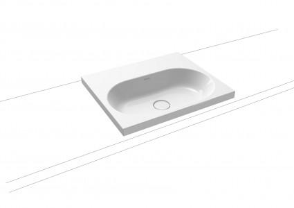 Kaldewei Avantgarde Centro Countertop Basin - Rim 40mm: 60 x 50cm. One tap hole [902806013001]