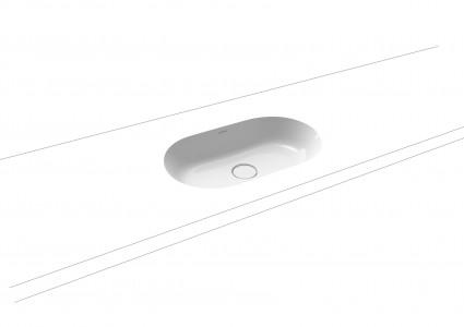 Kaldewei Avantgarde Centro Undercounter Basin 61 x 38cm. No tap hole. Internal dimensions 55.9 x 33cm [903206003001]