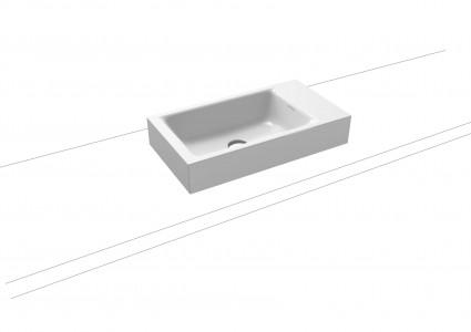 Kaldewei Ambiente Puro Countertop Hand Basin 55 x 30cm. One tap hole [906906013001]