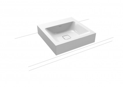 Kaldewei Avantgarde Cono Countertop Basin - Rim 120mm: 60 x 50cm. One tap hole [902106013001]