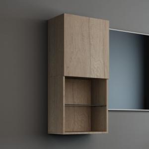 Imex Ceramics FCHM2775-400-B0001 Liberty Wall Storage Cabinet Natural Oak