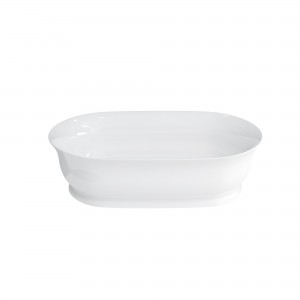 Clearwater Florenza Basin 59 x 14h x 39cm. No tap hole no overflow - Clear Stone [B11ECS]