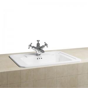 Burlington B131TH Fully Inset Vanity Basin 540 x 425mm 1 Taphole White