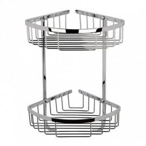 Bayswater BAYA021 2 Tier Corner Basket Large - Chrome
