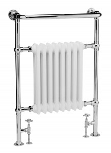 Bayswater BAYR001 Clifford Towel Rail/Radiator 963 x 673mm White/Chrome