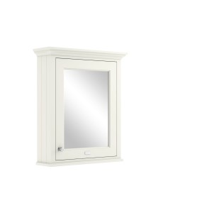 Bayswater BAYF130 Single Door Mirrored Wall Cabinet 650 x 752mm Pointing White