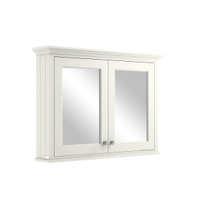 Bayswater BAYF133 Double Door Mirrored Wall Cabinet 1050 x 752mm Pointing White