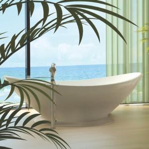 BC Designs BAB007 Plinth for Kurv Bath White Only