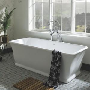 BC Designs BAB025 Magnus Solid Surface Bath 1680 x 750mm Polished White