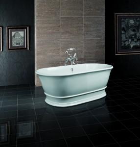BC Designs BAB032 Bampton Solid Surface Bath 1555 x 740mm Polished White