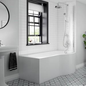 BC Designs BAI016 SolidBlue P Shower Bath 1700 x 850mm Left Hand