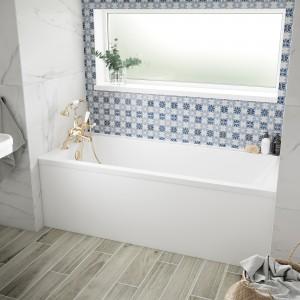 BC Designs BAI045 SolidBlue Durham Single Ended Bath 1500 x 750mm