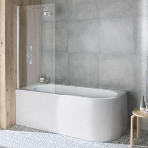BC Designs BAS056 Ancorner Shower Bath 1700 x 750mm Right Hand