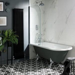 BC Designs BAU055 Tye Shower Bath 1500 x 750mm Feet Set 1
