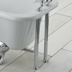 BC Designs  CTW910 Victrion Traditional Bath Adjustable Shrouds & Legs Chrome