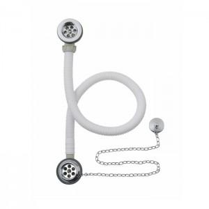 BC Designs WAS020 Concealed Plug & Chain Bath Waste Chrome