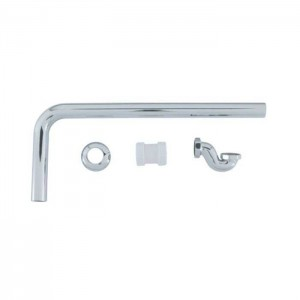 BC Designs WAS080 Exposed Low Bath Trap with Adaptor & Pipe Chrome
