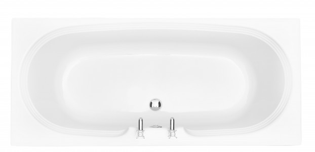 HERITAGE BDW1775D Dorchester 1700mm Double Ended Fitted Acrylic Bath - No Tapholes