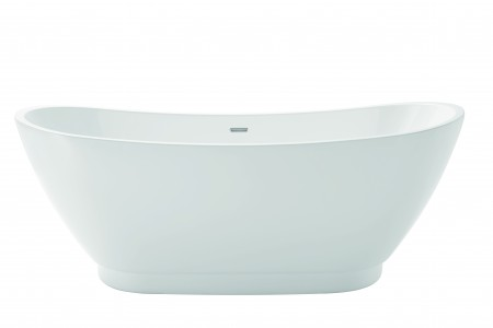 HERITAGE BEDFSW00 Edvin Double Ended Acrylic Bath - No Tapholes