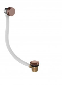 Flova BF1865-ORB Liberty-Bronze Bath Overflow Filler with Clicker Waste