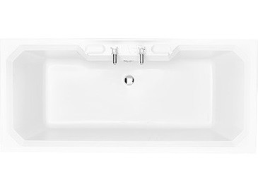 HERITAGE BGRW1880D Granley Double Ended Fitted Acrylic Bath - 2 Tapholes