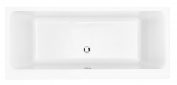 HERITAGE BHPW1775D Blenheim 1700mm Double Ended Fitted Acrylic Bath - No Taphole