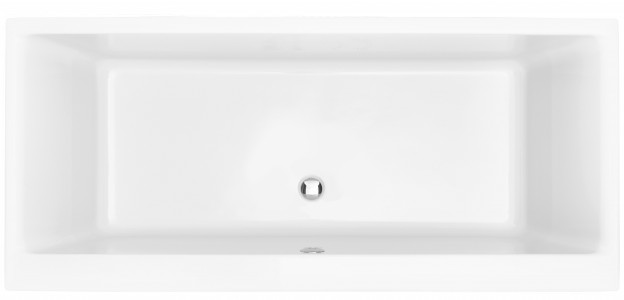 HERITAGE BHPW1880D Blenheim 1800mm Double Ended Fitted Acrylic Bath - No Taphole