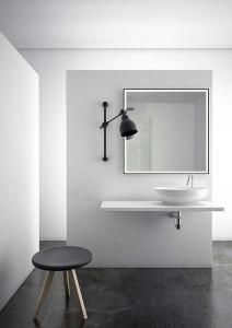 The White Space Matt Black Frame Illuminated Mirror 60 x 80cm  [BLKF68]