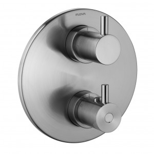 Flova BN-LVT444ROTRIM Levo-BN Round Concealed Thermostatic 3 Outlet Shower Trim