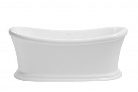 HERITAGE BORFSW00 1700mm Orford Double Ended Acrylic Slipper Bath - No Tapholes