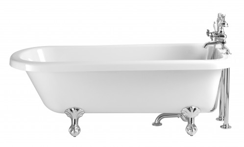 HERITAGE BPHW01 1650mm Perth Single Ended Roll Top Acrylic Bath - 2 Tapholes