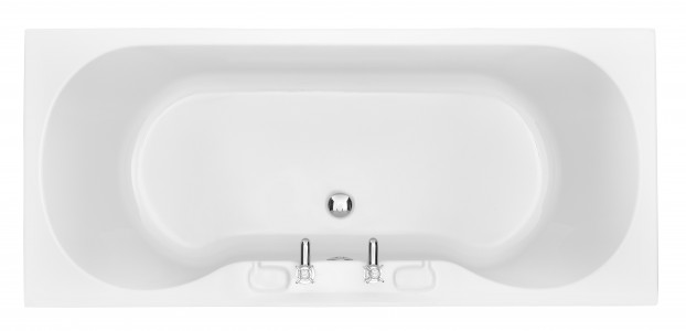 HERITAGE BRHW1775D Claverton Double Ended Fitted Acrylic Bath - 2 Tapholes