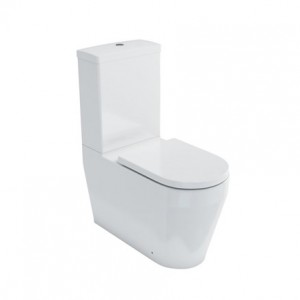 Britton Trim Back to Wall WC including fixings - White [TRIM003]