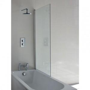 Britton BS8L EcoSquare Bath Screen with Access Panel Left Hand - Chrome