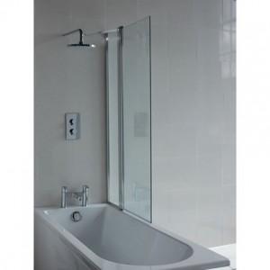 Britton BS8R EcoSquare Bath Screen with Access Panel Right Hand - Chrome