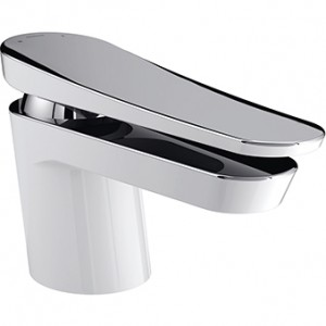 BRISTAN Claret 1 Hole Bath Filler White & Chrome