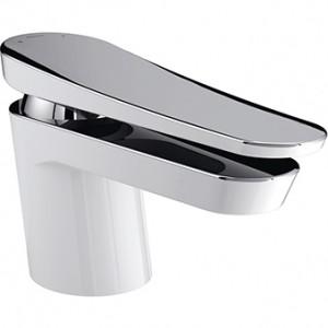 BRISTAN Claret Basin Mixer without Waste White & Chrome