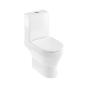 Britton Shoreditch Square Cistern and lid including top flush cistern fittings - White [SHR049]
