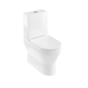 Britton Curve 2 Open Back (Close coupled) WC - includes soft close seat - White [CUR2004]
