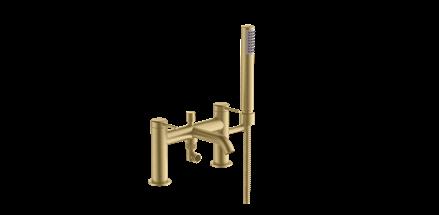 Britton Hoxton Bath Shower Mixer - Brushed Brass [HOX008BB]