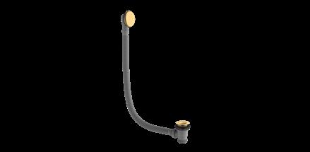 Britton Hoxton Sprung Plug Bath Waste - Brushed Brass [HOX013BB]